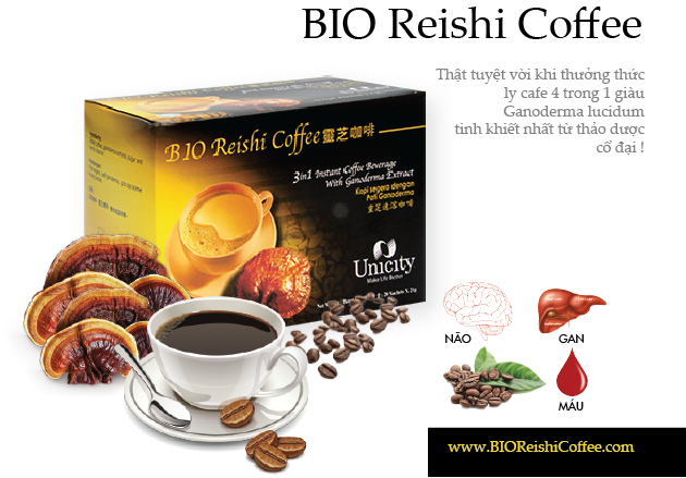 Cafe linh chi BioReishi Coffee Unicity